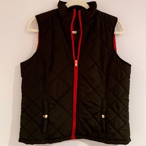 NWOT black and red quilted vest by Ralph Lauren